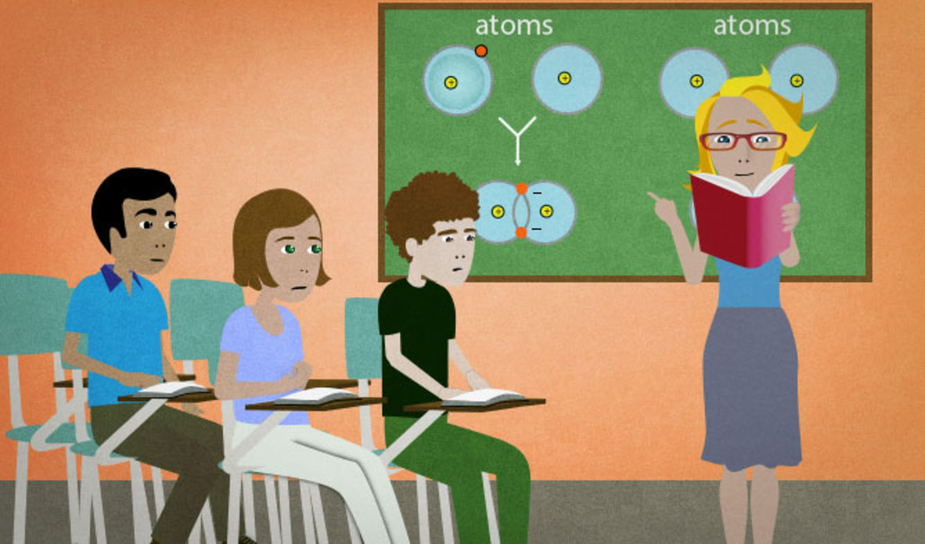 English Lesson: Moving on, let's review the differences between ionic and covalent bonds.