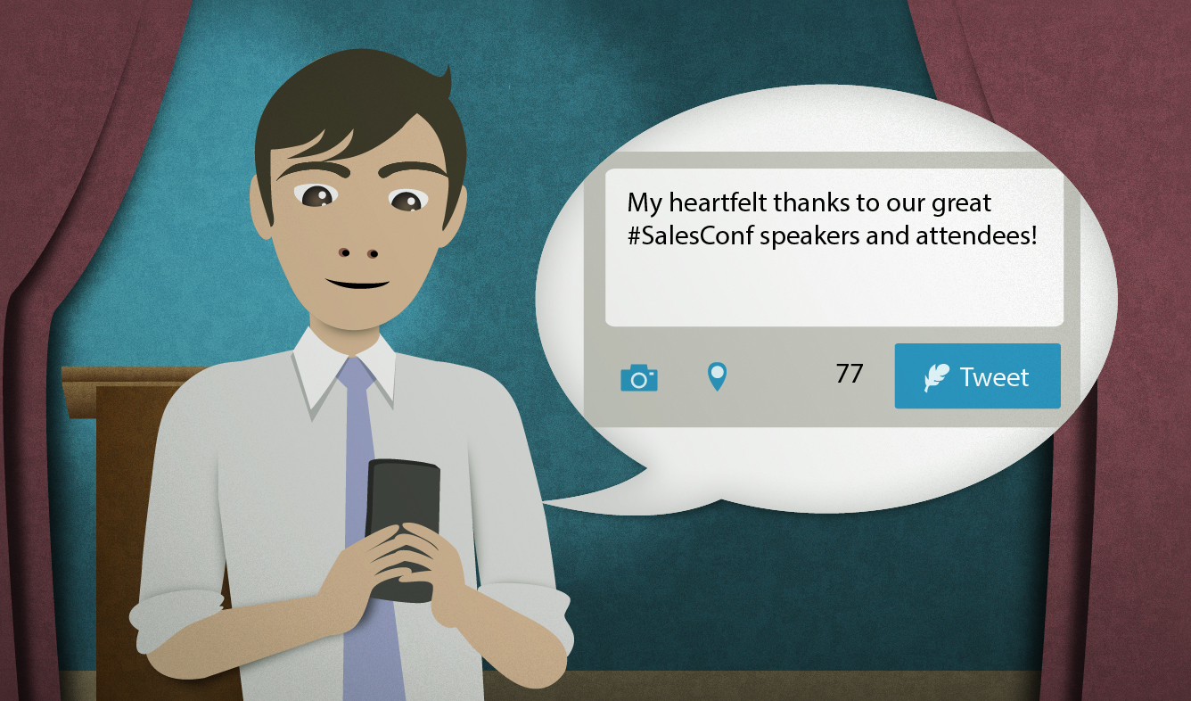 English Lesson: My heartfelt thanks to our great #SalesConf speakers and attendees!