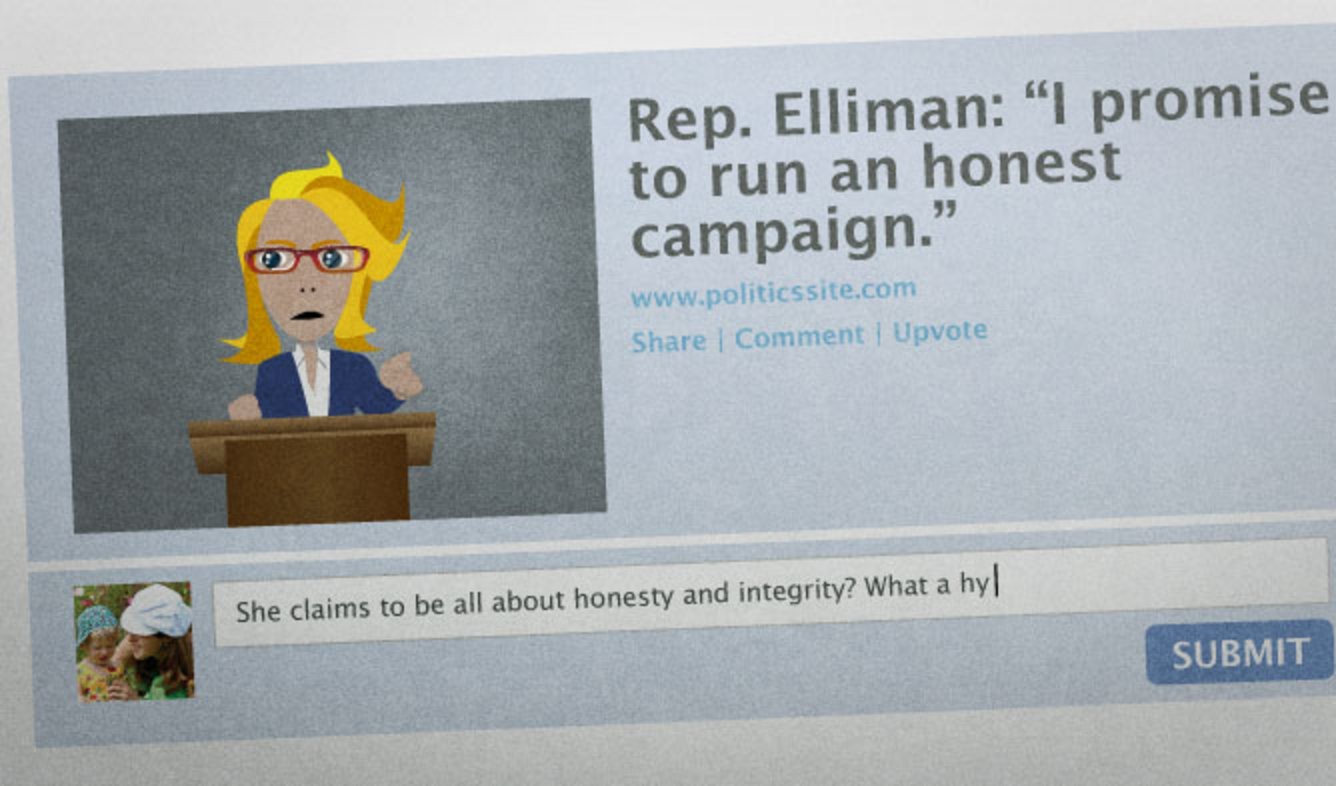 English Lesson: She claims to be all about honesty and integrity? What a hypocrite!