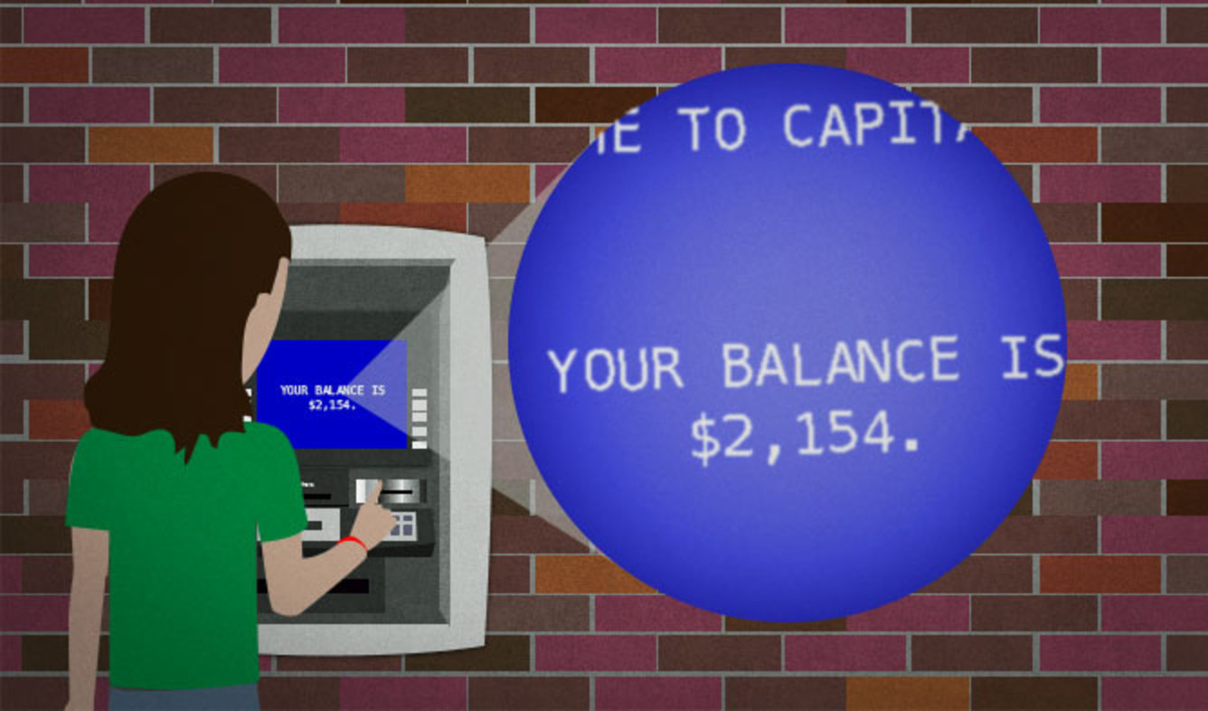 English Lesson: Your balance is $2,154.