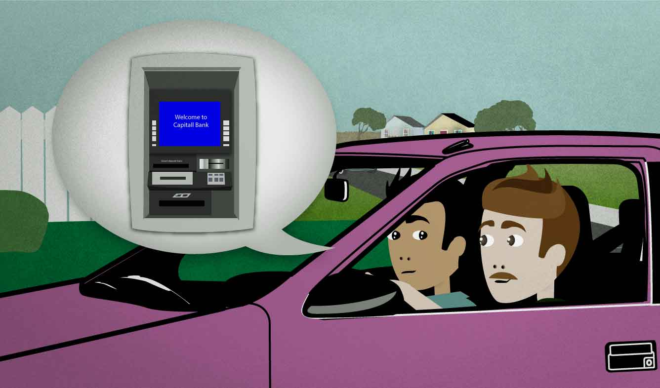 English Lesson: Can we stop by an ATM on the way there?