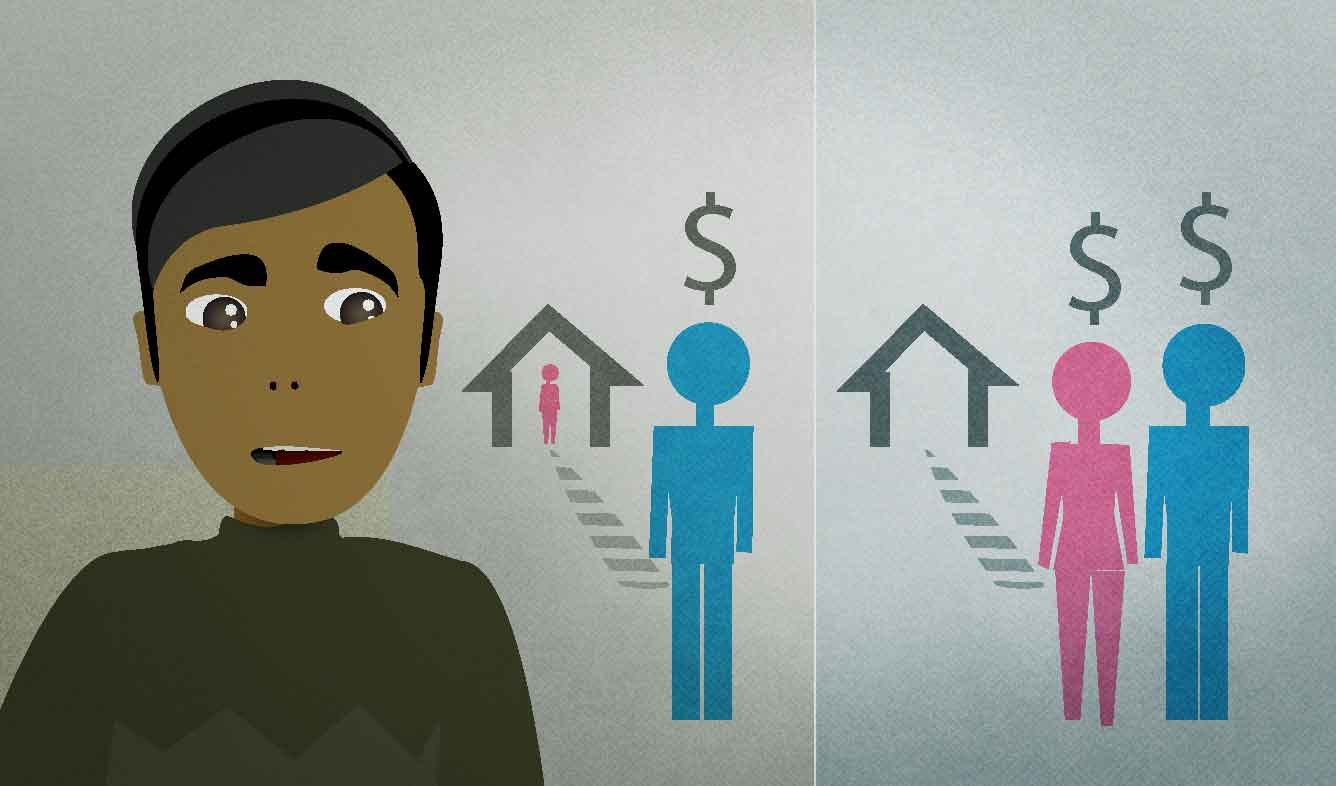 English Lesson: These days, it's nearly impossible for a family to get by on a single income.