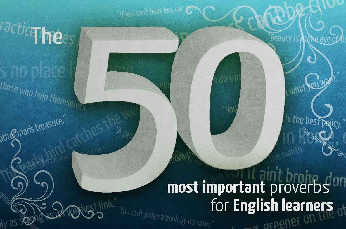 The 50 most important English proverbs | PhraseMix com